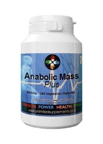 Anabolisant Mass PLUS 500mg – 180 Gélules – Favorise la croissance et le développement intense des muscles Le meilleur des ventes par…
