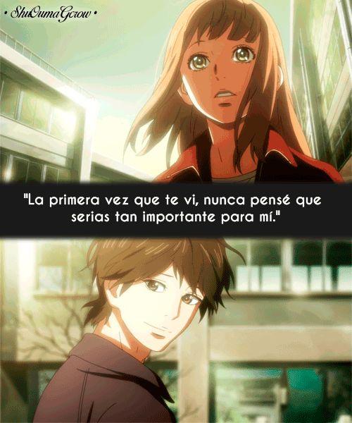 La primera vez que te vi #ShuOumaGcrow #Anime #Frases_anime #frases