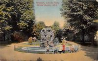 MI Michigan Grand Rapids Fountain Lincoln Park Postcard