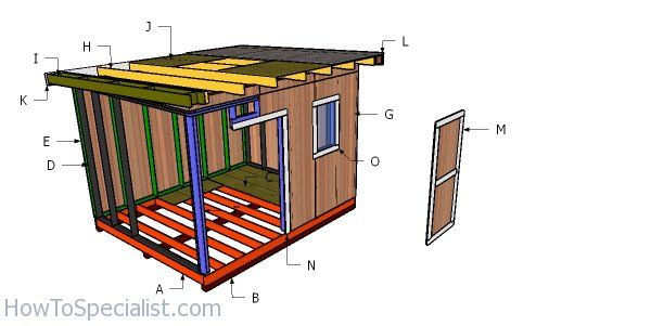 10x12 Shed With Flat Roof Free Diy Plans Howtospecialist How To Build Step By Step Diy Plans 10x12 Shed Flat Roof Shed Flat Roof