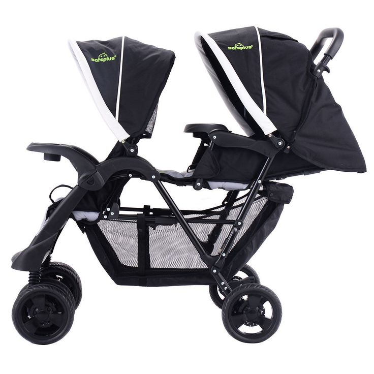 Foldable Twin Baby Kids Jogger Pushchair Stroller Twin