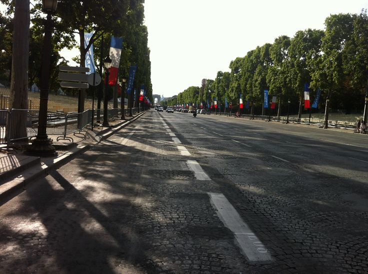 Paris - Champs Elysees before the 2015 Tour de France