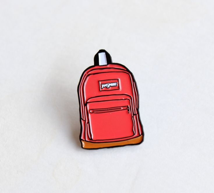 "Pink Jansport Backpack Lapel Pin - 1.25"" soft enamel, 90s nostalgia by TheSilverSpider on Etsy"