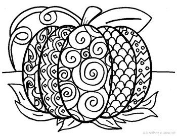 faceless pumpkin coloring pages - photo#32