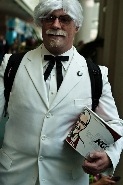 Colonel Sanders from Kentucky Fried Chicken by sdoorly, Comic Con 2010, via Flickr