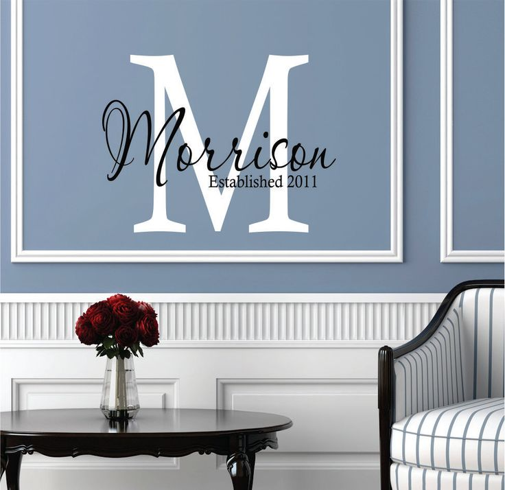 Wall Decals Personalized Family Name - Wedding Decor - Livingroom Decor - Family Name Decal. $24.00, via Etsy.
