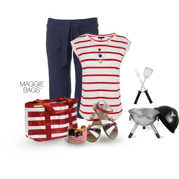 """4th of July BBQ"" by maggiebags on Polyvore"