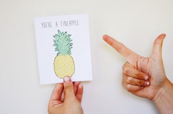 """how you doin'  .. I like to believe that emoji was inspired by Joey from Friends. Who else…"" #fineapple #pineapple #birthday #birthdaycard #forhim #forher"