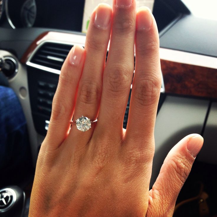 love my solitaire engagement ring!