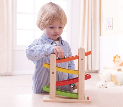 Our award-winning Ramp Racer keeps your child's attention; helps build concentration, hand-eye coordination and understanding of how parts link together. This simple toy is crafted with plantation timber and coloured with non toxic water based paints. A beautiful racing toy !
