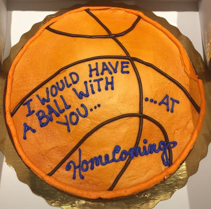 Cute homecoming proposal for basketball players