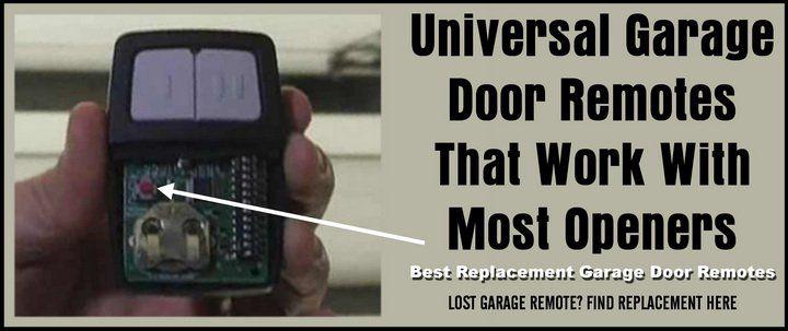 Universal Garage Door Remotes That Work With Most Openers – Best Replacement Garage Door Remotes