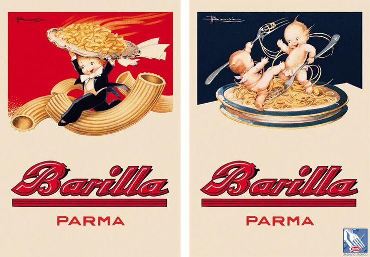 La #pasta dà energia! Questo è il motto dei giocosi putti protagonisti del calendario e delle cartoline ideate da Busi nel 1931.