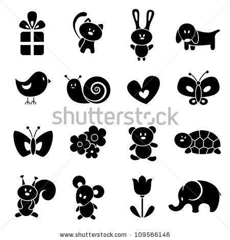 Baby icon set. EPS 8 vector illustration. by EV-DA, via ShutterStock