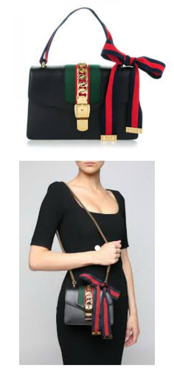 1d999207e40 The Gucci Sylvie Small Shoulder Bag in black is the perfect accessory to  dress up your outfit