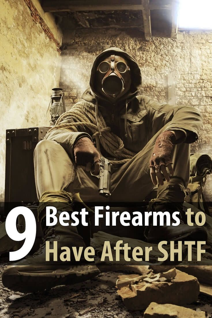 A good firearm could save your life in a disaster. This article covers the 3 best rifles, 3 best handguns, and 3 best shotguns to have after SHTF.