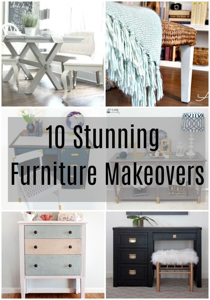 10 Stunning Furniture Makeovers Furniture Makeover Unique Home
