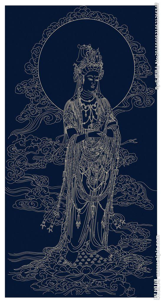Buddha Mahasthamaprapta of the Western Pure Land Trinity (Buddha Amitabha, Avalokitesvara, and Mahasthamaprapta) 西方三圣之大势至菩萨