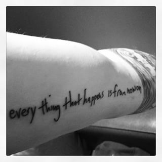 When he actually tattooed the lyrics onto his arm. | 41 Times Ed Sheeran Made Your Day Better