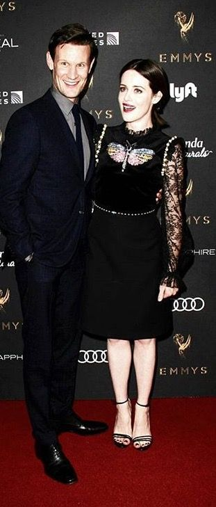Matt Smith and Claire Foy at Emmy's performer nominee cocktail reception