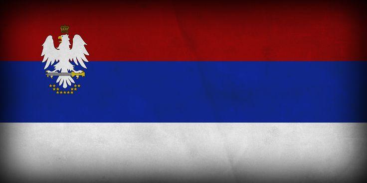 """Flaga """"Unii Słowiańskiej""""."""