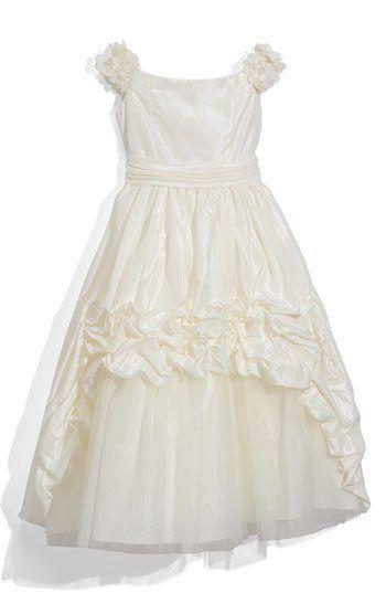 Joan Calabrese for Mon Cheri Taffeta Dress (Little Girls & Big Girls) | Nordstrom