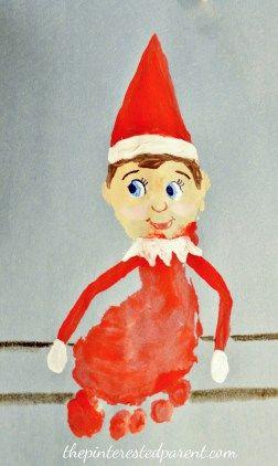 Footprint Elf On the Shelf - A cute keepsake for the kids for Christmas