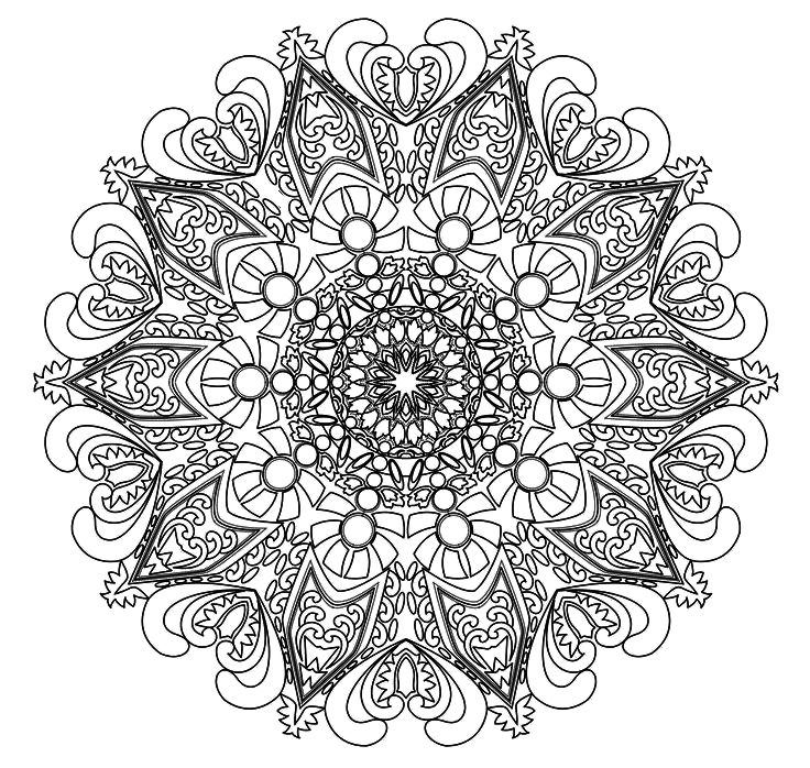 intricate mandala coloring pages - photo#3