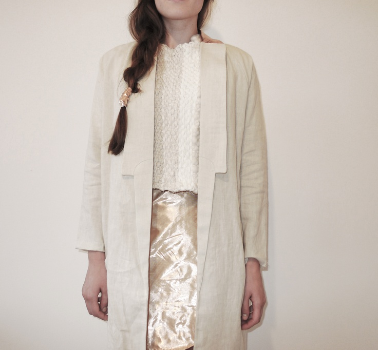 craft project, woven top, coat and skirt by Julia Björkeheim