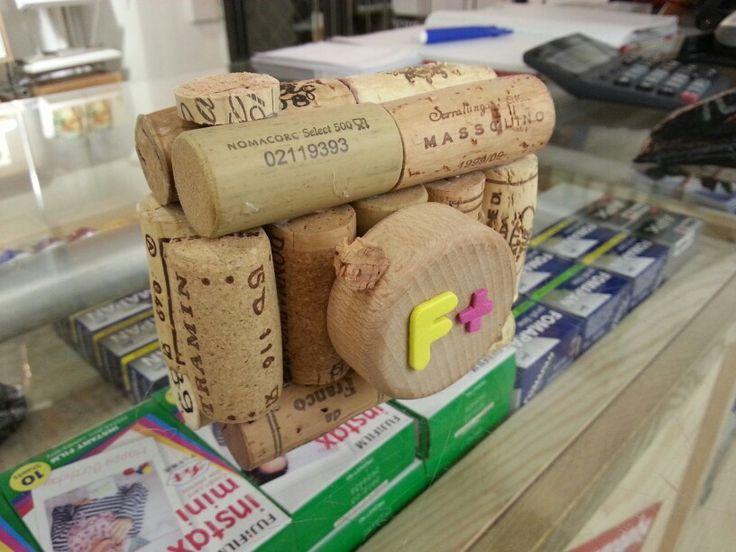 Cork camera as decoration #diana f+