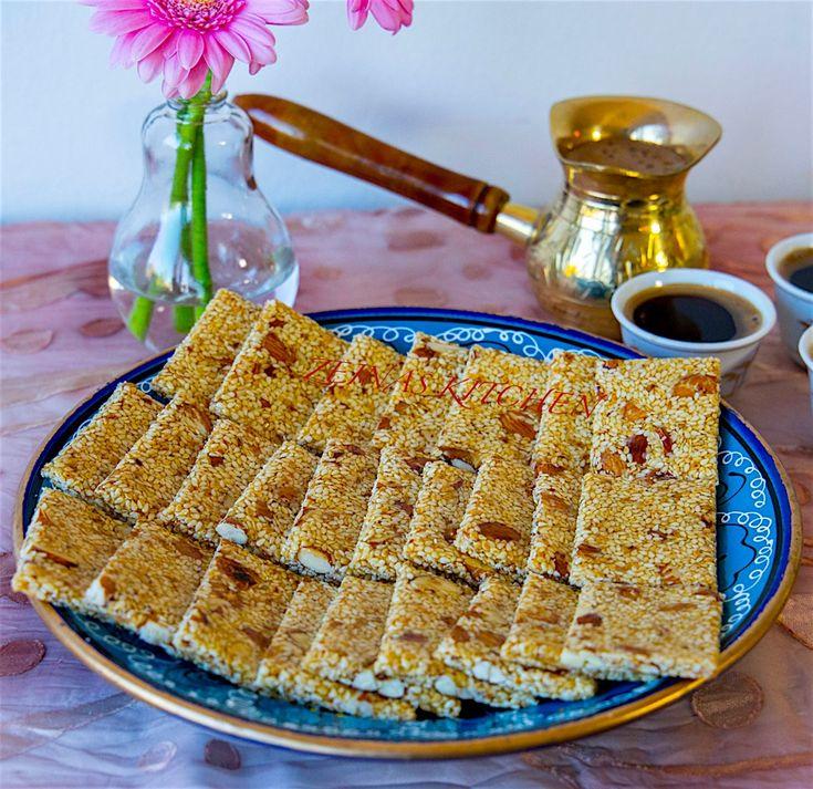 Sesamrutor med honung och mandel - ZEINAS KITCHEN