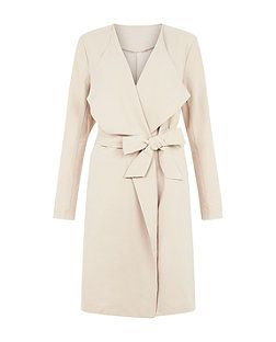 First and I Stone Trench Coat  | New Look