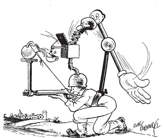 A Rube Goldberg cartoon from Collier's, December 9, 1944.