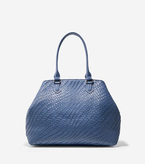Women's Lena Tote in Washed Indigo | Cole Haan Outlet