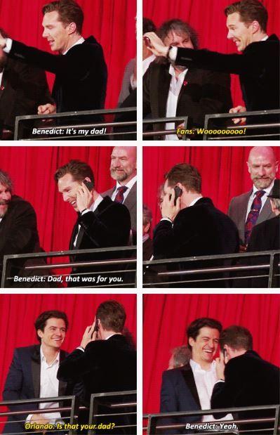 Benedict Cumberbatch, Orlando Bloom, and Timothy Carlton. :) (The Hobbit: The Desolation of Smaug)