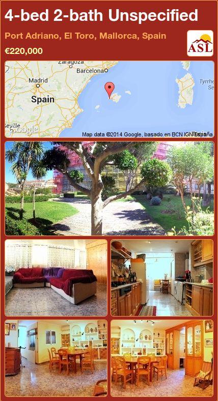 4-bed 2-bath Unspecified in Port Adriano, El Toro, Mallorca, Spain ►€220,000 #PropertyForSaleInSpain