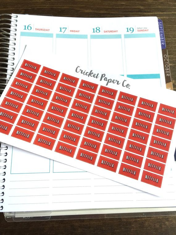Netflix Planner Stickers TV Planner Stickers by CricketPaperCo