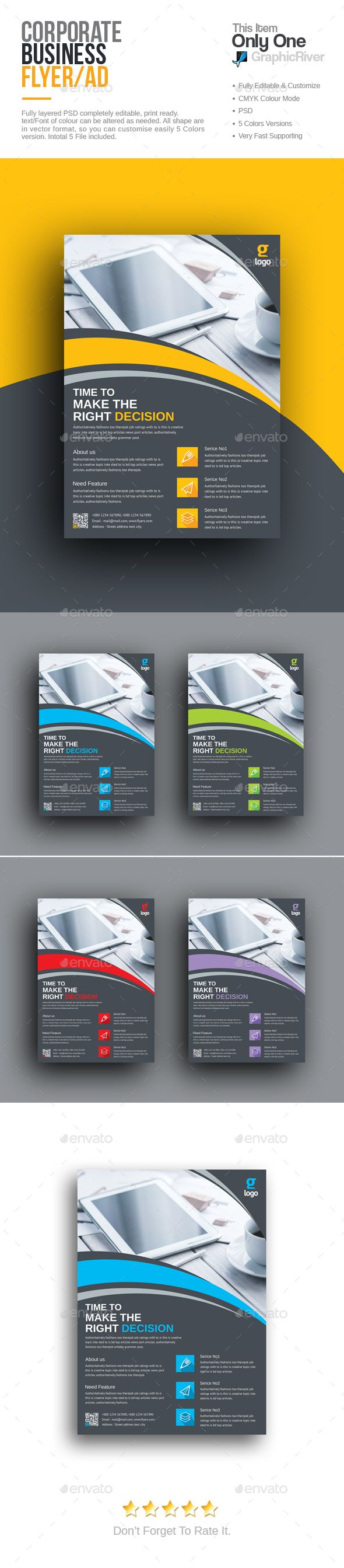 Corporate Flyer Template PSD. Download here: http://graphicriver.net/item/corporate-flyer/16142304?ref=ksioks