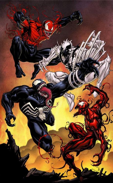 Venom, Anti-Venom, Carnage, and Toxin.