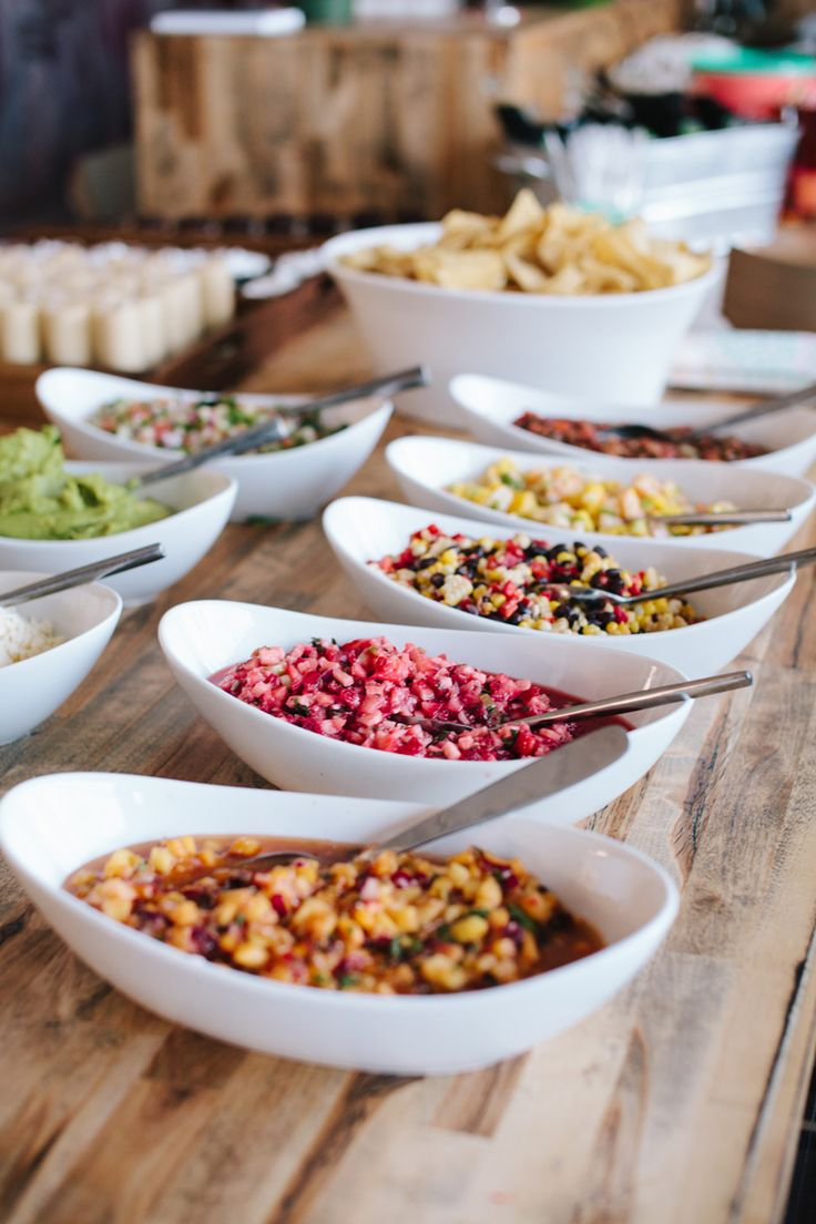 Salsa Bar Party Menu