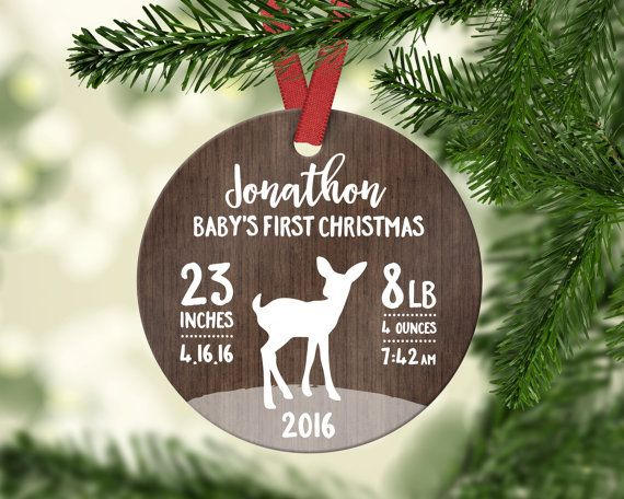 Baby Ornament Babys First Christmas Ornament Baby by fieldtrip