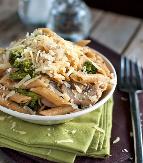 Rustic Garlic Butter Pasta with Roasted BroccoliSaute Garlic, Garlic Mushrooms, Rustic Garlic, Garlic Butter Pasta, Recipe, Food, Roasted Broccoli, Garlic Penne, Saute Mushrooms