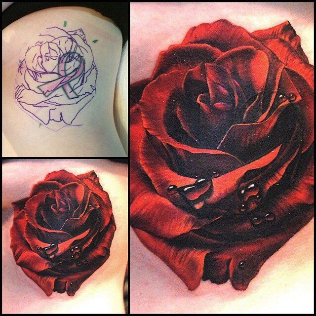 Rose tattoo. Cover up