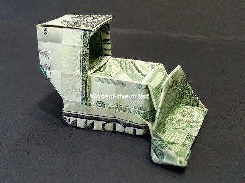 Money Origami Spider – Dollar Bill Art – 360° vie…
