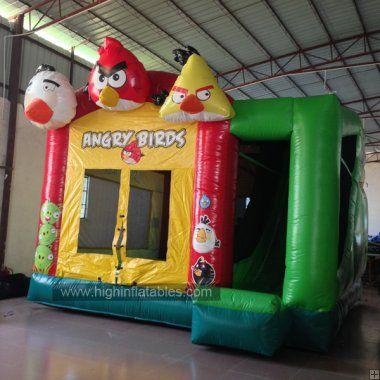 Inflatable angrey bird combo