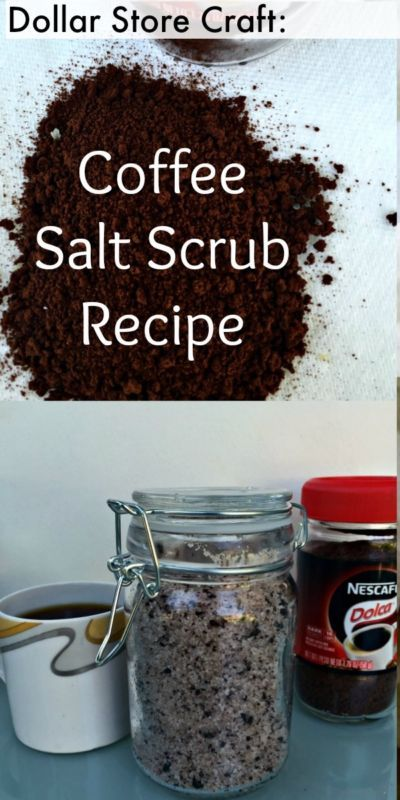 5 Minute DIY Coffee & Coconut Sea Salt Scrub Recipe