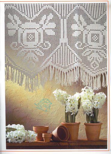 Crochet Knitting Handicraft: Cortinas de croche
