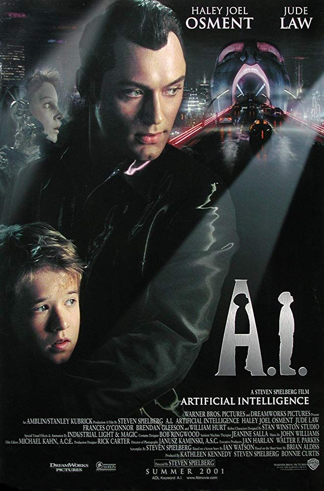 - one of the most touching movies ever. Artificial Intelligence, also known as A., is a 2001 science fiction drama film directed, produced and co-written by Steven Spielberg. Sci Fi Movies, Movies To Watch, Indie Movies, Action Movies, Love Movie, Movie Tv, Movies Showing, Movies And Tv Shows, Artificial Intelligence Movie