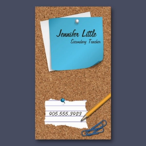 70 best professional business cards images on pinterest high school teacher business card post it note colourmoves