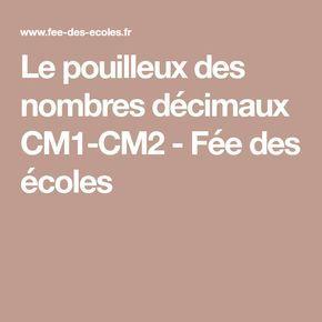 Le pouilleux des nombres décimaux CM1-CM2 - Fée des écoles